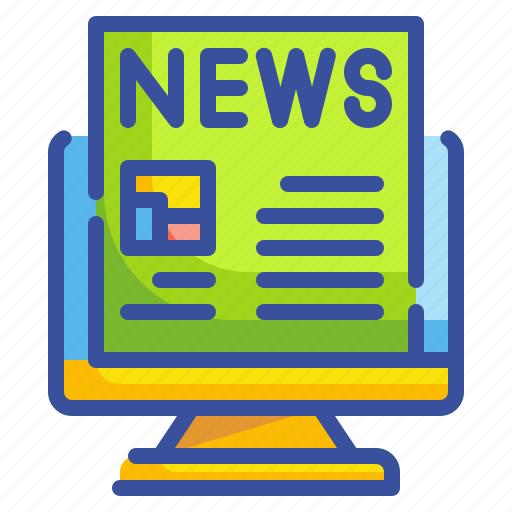 computer, content, news, newsletters, online icon