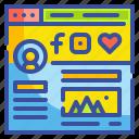 content, media, social, ui, website, window