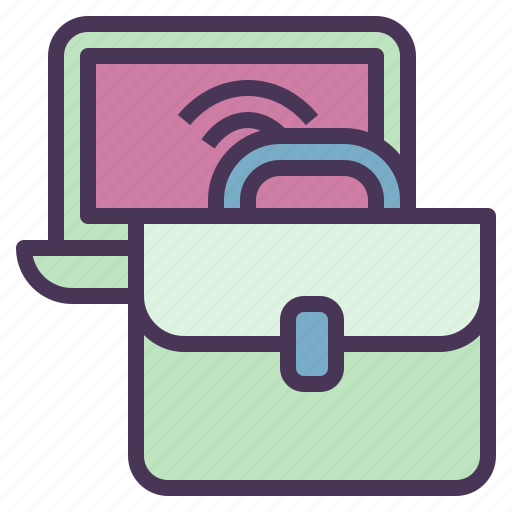 bag, business, commerce, computer, e, internet icon