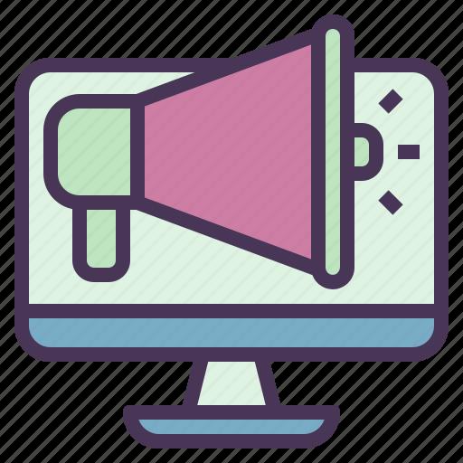 advertising, computer, digital, marketing, megaphone, social icon