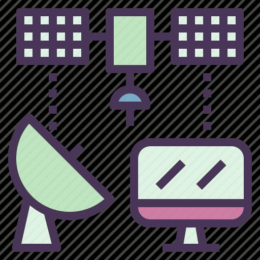 computer, device, information, satellite, technology, telecommunication icon
