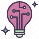 idea, innovation, light, process, revolution icon