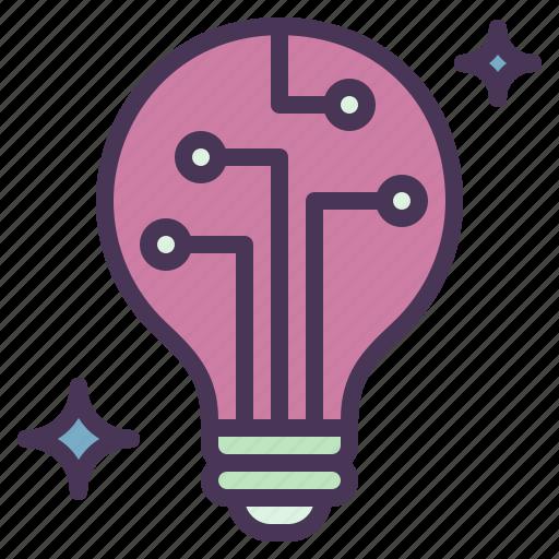 idea, innovation, light, process, revolution icon