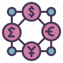 business, currency, economy, money, network icon