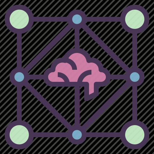 brain, business, intelligent, network, technology icon