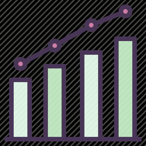 business, graph, prediction, statistic, trend icon