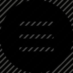 circle, hamburger, items, lines, list, navigation icon