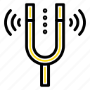 concert, fork, kamerton, pitch, reference icon