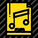 audio, computer, file, mp3, sample icon