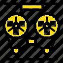 audio, player, record, recorder, reel icon