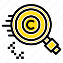 content, copyright, find, owner, property icon