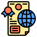connection, coworker, diploma, factory, occupation, technology, using icon