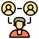 connection, factory, occupation, online, social, technology, using icon