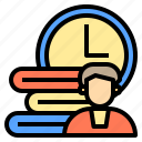 connection, coworker, factory, occupation, technology, time, using icon