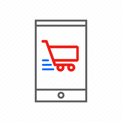 cart, digital, ecommerce, life, mobile, online, shopping icon