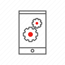 digital, digital life, gears, life, mobile, settings icon