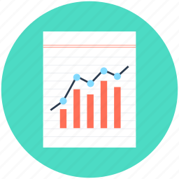 finance report, graph analysis, graph report, sale report, stock report icon