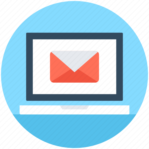 electronic marketing, email campaigns, email marketing, laptop, marketing icon
