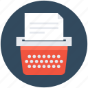 document, type, typer, typewriter, typing icon
