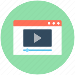film, online video, video, video player, video streaming icon
