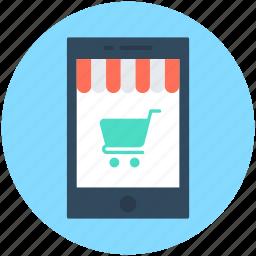 cellphone, mobile phone, mobile shopping, mobile store, shopping app icon