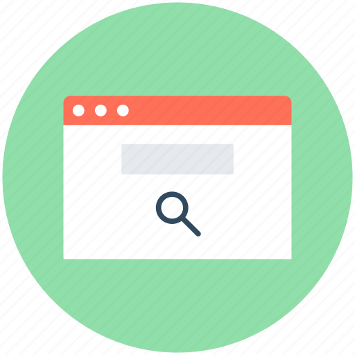 magnifying, search, search bar, search screen, web screen icon