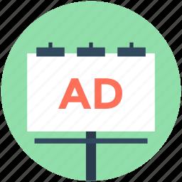 ad board, advertisement, advertising, billboard, signboard icon