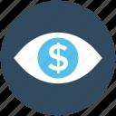 business, business view, dollar, dollar eye, eye