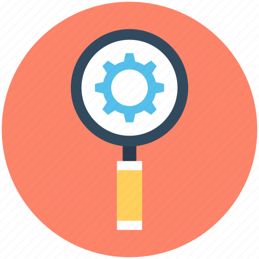Customize, magnifier, magnifying lens, options, search settings icon - Download on Iconfinder
