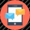 chat bubble, comments, mobile chat, speech bubble, talk