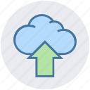 arrow, cloud, cloud computing, digital marketing, up, uploading icon