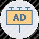 ad board, advertisement, advertising, billboard, digital marketing, sign board icon