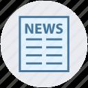 digital, marketing, news, newspaper, press, subscription icon