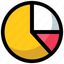 analysis, analytics, finance, pie graph, statistics icon