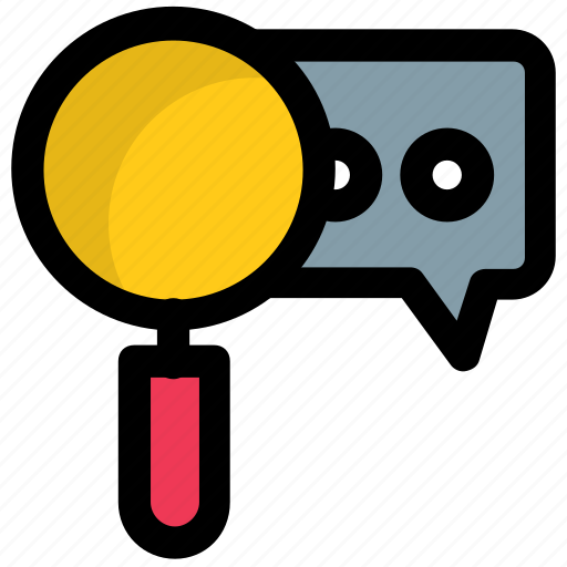 chat analytics, chat evaluation, communication analysis, search chat, searching friends on chat icon