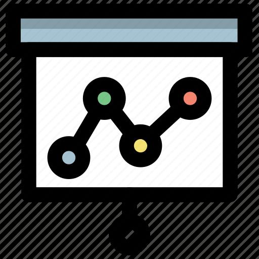 business report, flipchart presentation, graph presentation, presentation, statistics icon