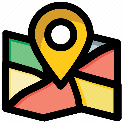 address pin, location pointer, map locator, map pin, placeholder icon