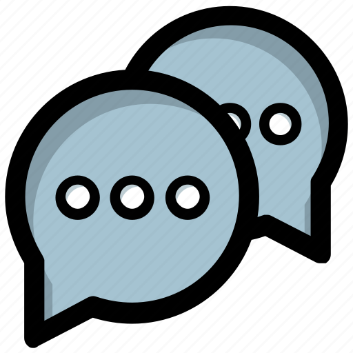 babbling, chat, chat bubble, conversation, talking icon