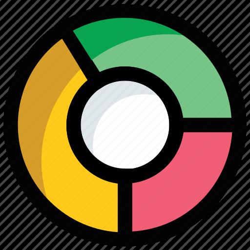 Analysis, analytics, doughnut chart, pie chart, statistics icon - Download on Iconfinder