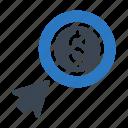 cursor, dollar, online, payperclick, shopping icon