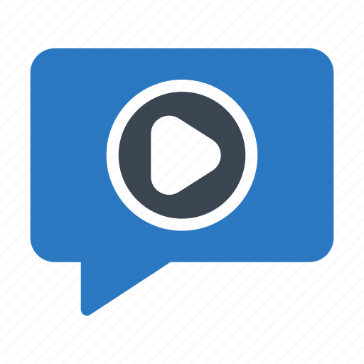 chat, digital, marketing, message, video icon
