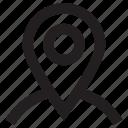 globe, magnifier, map pin, search location, seo icon