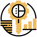 emphasis, key, opportunity, solution, success icon