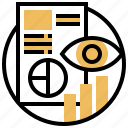 diagram, eye, monitoring, observe, survey icon