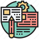 article, document, news, pencil, writing icon