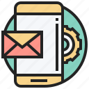 device, electronic, mail, marketing, smartphone icon