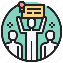 achievement, business, effort, success, victory icon
