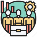 business, company, cooperate, coworker, teamwork icon