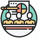 conference, practice, study, training, workshop icon