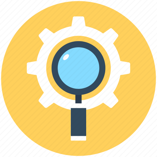 customize, magnifier, magnifying lens, options, search settings icon